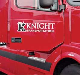 Knight truck during company sponsored training