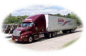 Millis Trucking on the highway