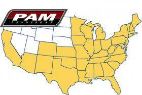 PAM Transport service area map