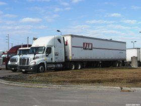 PAM Transport truck parked