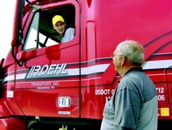 Student training at Roehl Driver Training Center