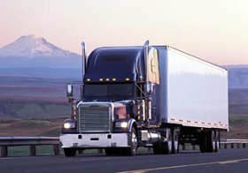 Truck driving schools in Washington uses tractor trailers like this one