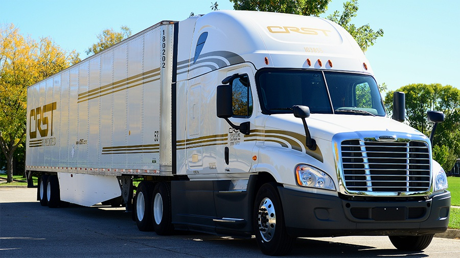CRST trucking paid cdl training truck