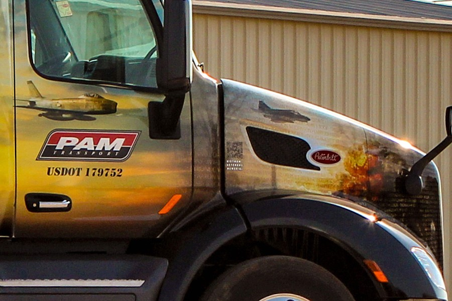 PAM Transport paid CDL training truck