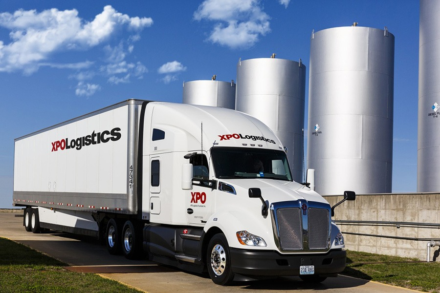 XPO Logistics paid cdl training truck